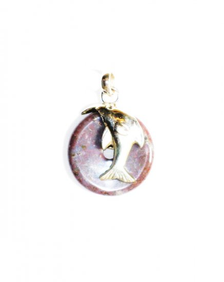 PN241 Agate Pendant in Sterling Silver