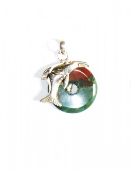 PN242 Agate Bullet Pendant in Sterling Silver