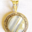 PN425 Agate Pendant in Sterling Silver