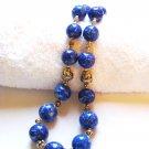 ST105     Blue Jasper Necklace in Sterling Silver