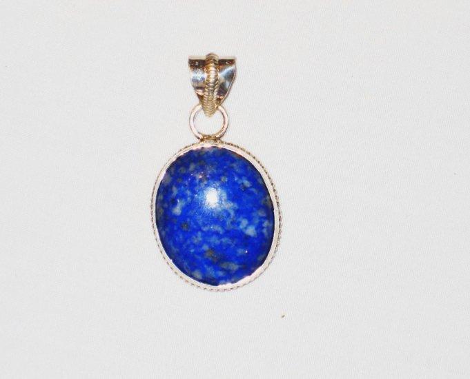 PN109     Blue Jasper Pendant in Sterling Silver