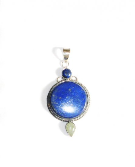 PN215     Blue Jasper Pendant in Sterling Silver