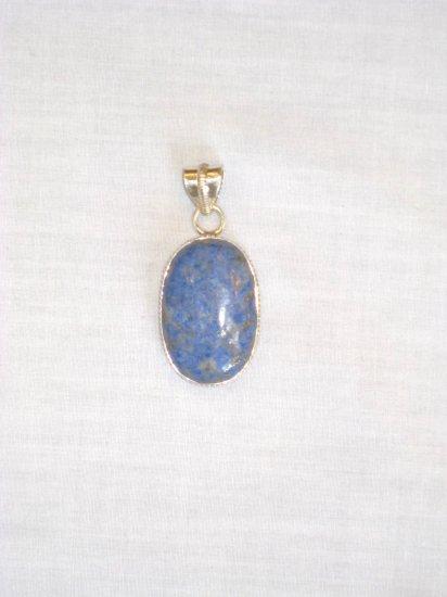 PN471     Blue Jasper Pendant in Sterling Silver