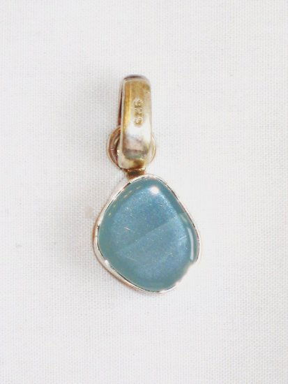 PN064       Chalcedony Pendant in Sterling Silver