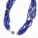 ST520 Blue Jasper Necklace in Sterling Silver