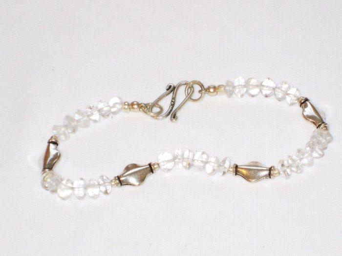 ST172       Cuboc Zirconia Bracelet in Sterling Silver