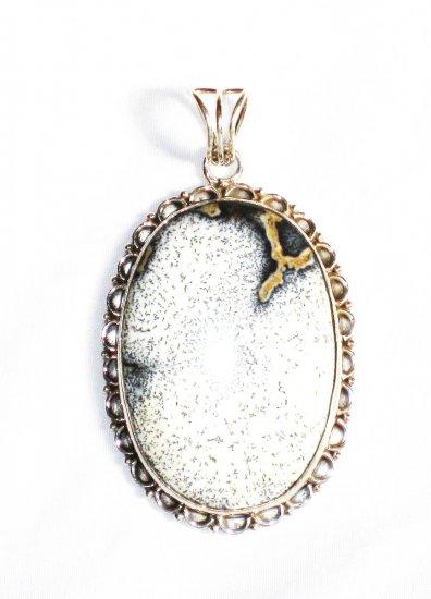 PN261     Dendrite Opal Pendant in Sterling Silver
