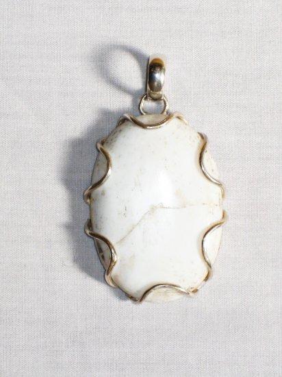 PN298     Dendrite Opal Pendant in Sterling Silver