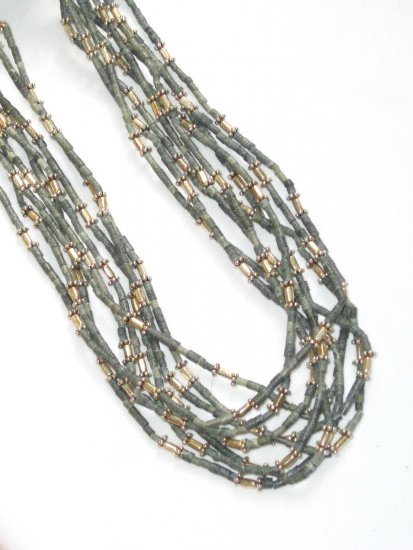 ST343       Grass  Necklaces in Sterling Silver