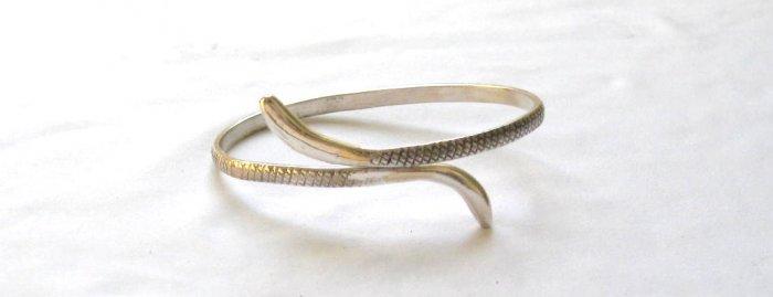 AQ182  Antique Snake Silver Bracelet in Sterling Silver