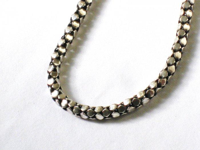 AQ136  16 Inch   Antique Silver Chain