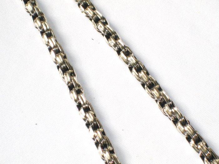 AQ139  18 inch   Antique Silver Chain
