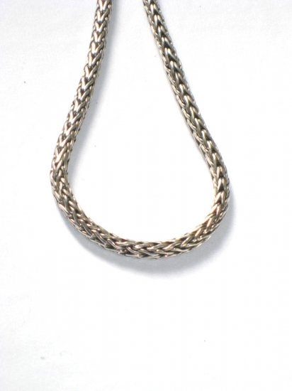 AQ141  14 inch    Antique Silver Chain