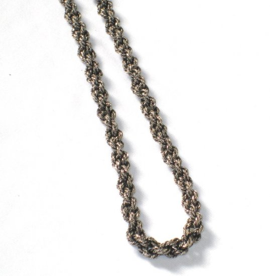AQ142  Dark Oxidized 18 inch Antique Silver Chain