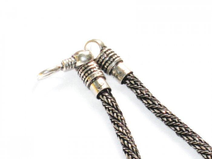 AQ157  17 inch   Antique Silver Chain