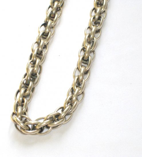 AQ165  18 inch   Antique Silver Chain