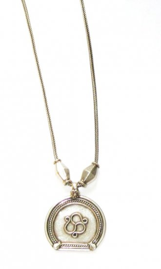 AQ160       Antique Silver  Necklace in Sterling Silver