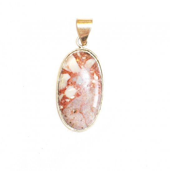 PN075       Moss Agate Pendant in Sterling Silver