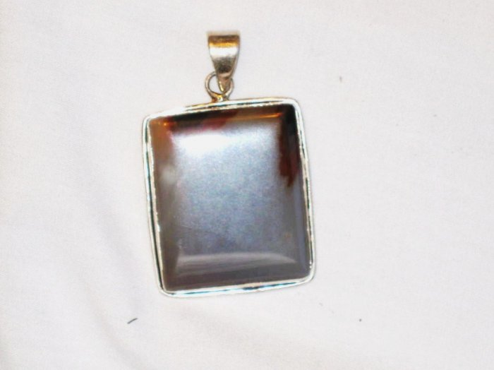 PN113       Moss Agate Pendant in Sterling Silver