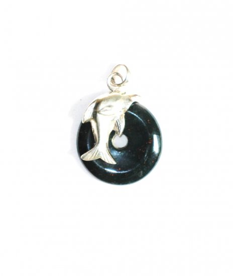 PN240       Moss Agate Pendant in Sterling Silver
