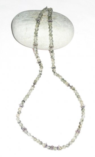 ST501       Rutilated Quartz  Necklace in Sterling Silver