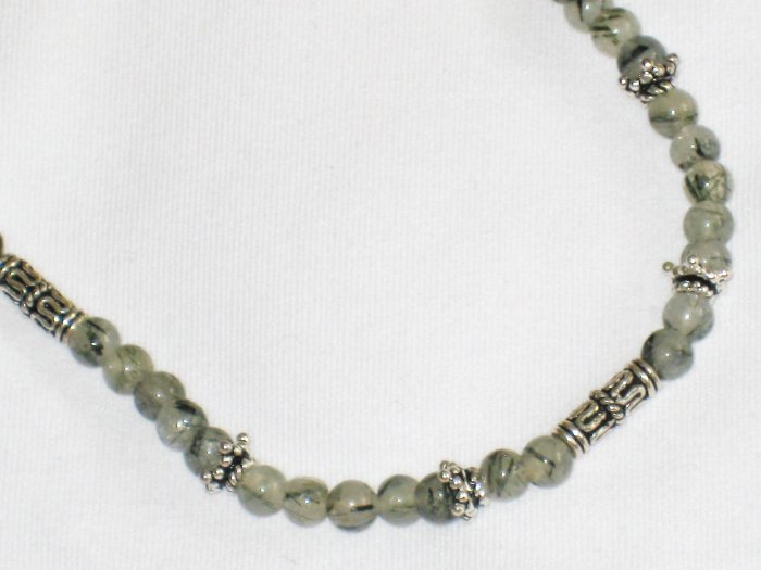 ST659       Rutilated Quartz  Necklace in Sterling Silver