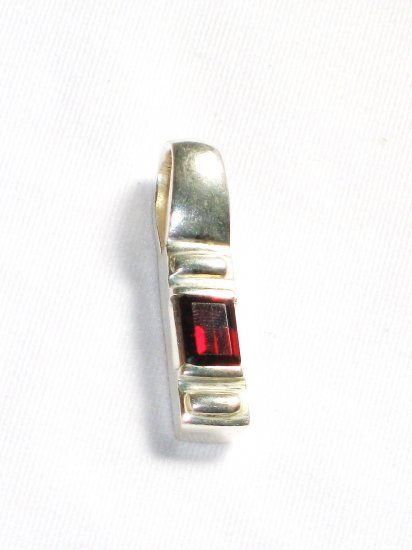 ST205       Ruby Pendant in Sterling Silver