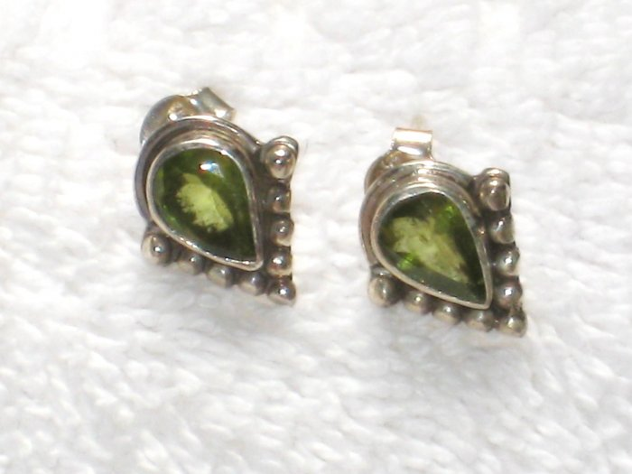 ER060       Peridot and Citrine Earrings in Sterling Silver