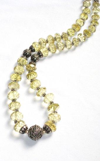 ST029       Lemon Quartz Necklace in Sterling Silver