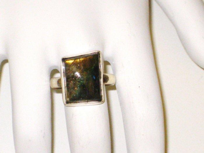RG020      Labradorite Ring in Sterling Silver, Size 7