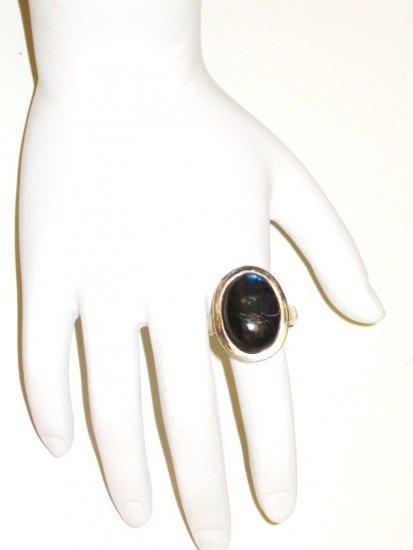 RG027       Labradorite Ring in Sterling Silver, Size 8