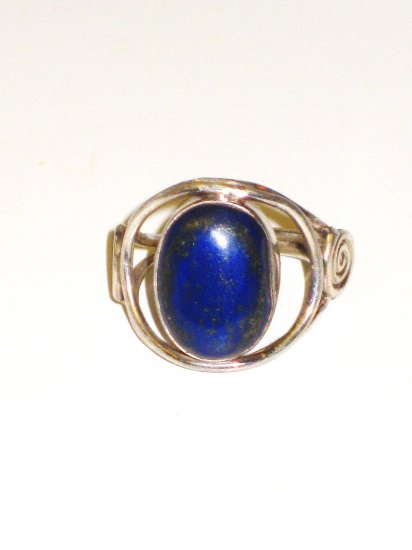 RG015       Lapis Lazuli Ring in Sterling Silver