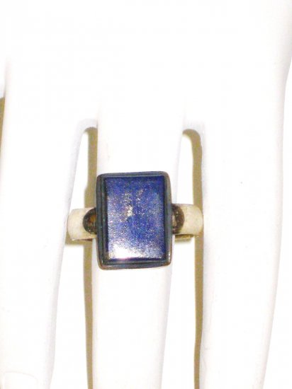 RG035       Lapis Lazuli Ring in Sterling Silver, Size 8