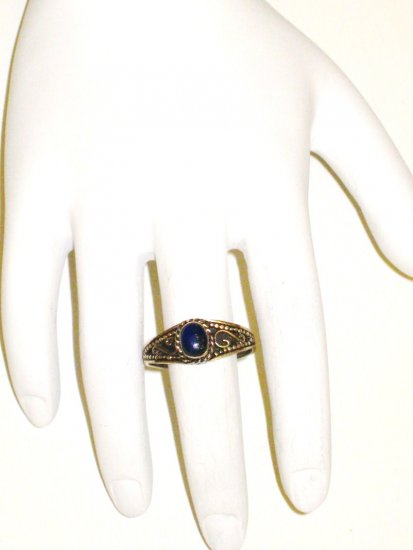 RG039       Lapis Lazuli Ring in Sterling Silver, Size 9
