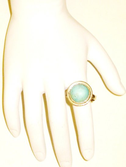 RG029       Turquoise Ring in Sterling Silver, Size 8