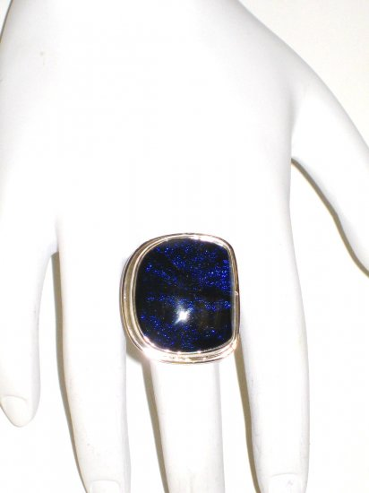 RG056       Dichroic Glass Ring in Sterling Silver