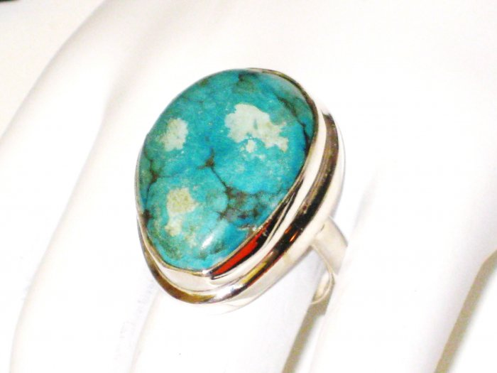 RG103       Turquoise Ring in Sterling Silver, Size 7