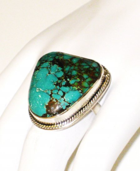 RG114       Turquoise Ring in Sterling Silver, Size 7