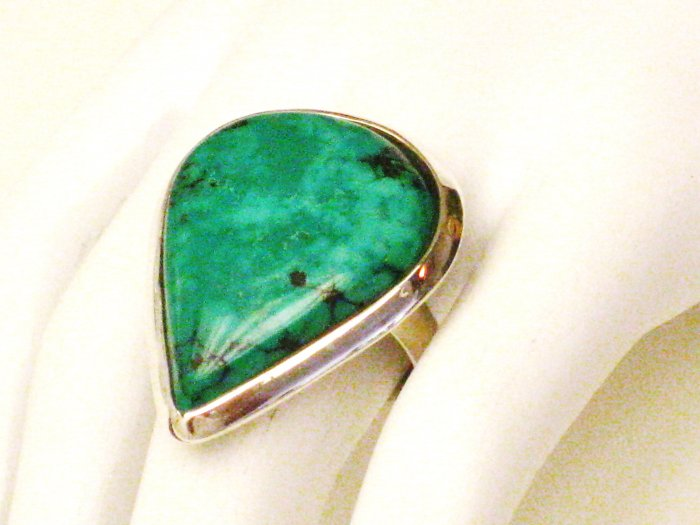 RG119       Turquoise Ring in Sterling Silver, Size 7