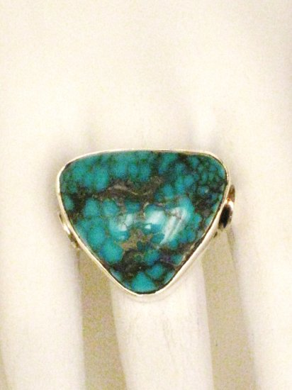 RG120       Turquoise Ring in Sterling Silver, Size 7