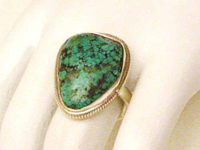 RG124       Turquoise Ring in Sterling Silver, Size 7