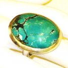 RG132       Turquoise Ring in Sterling Silver, Size 7