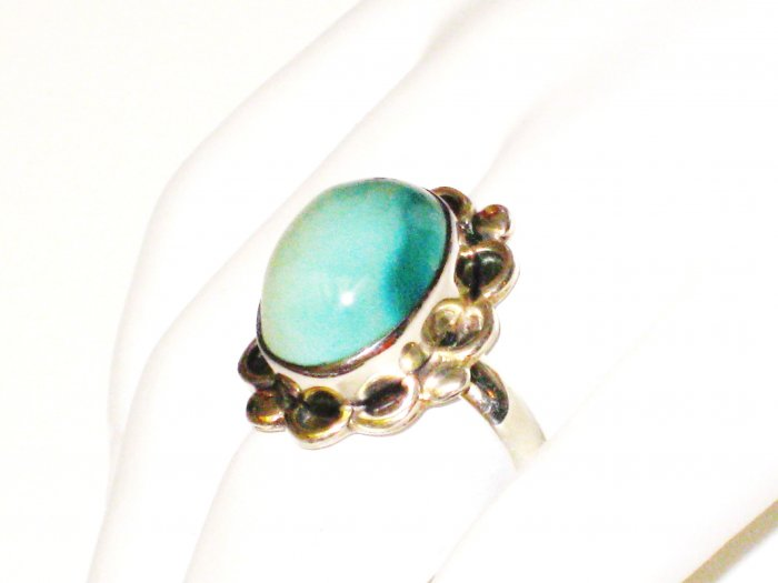 RG085       Turquoise Ring in Sterling Silver, Size 8