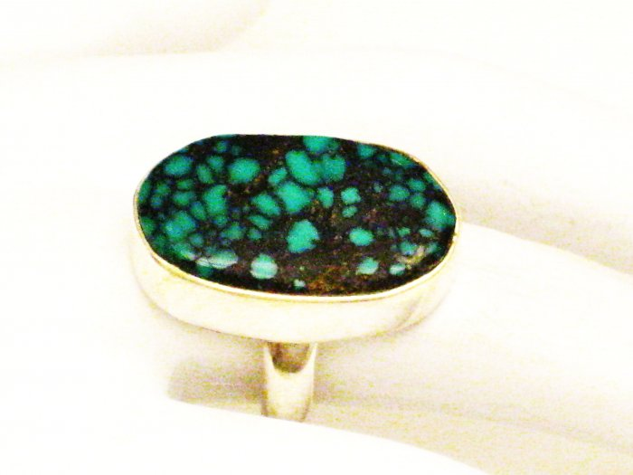 RG153       Turquoise Ring in Sterling Silver, Size 6