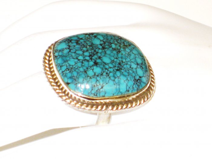 RG147       Turquoise Ring in Sterling Silver, Size 7