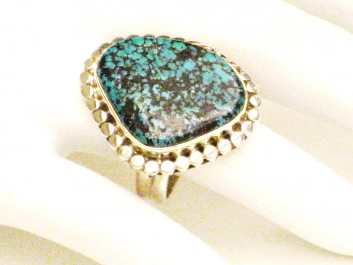 RG154       Turquoise Ring in Sterling Silver, Size 7