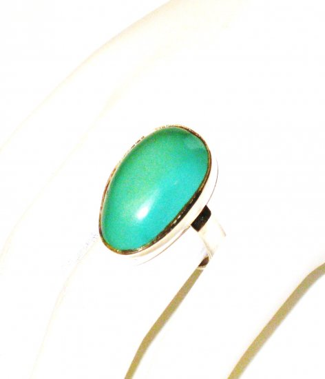 RG163       Turquoise Ring in Sterling Silver, Size 7
