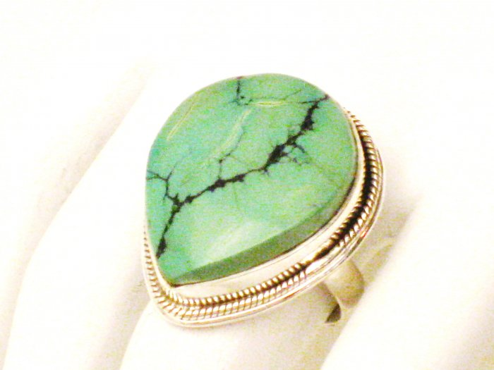 RG177       Turquoise Ring in Sterling Silver, Size 7