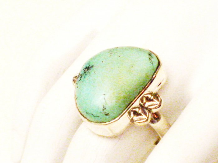 RG179       Turquoise Ring in Sterling Silver, Size 7