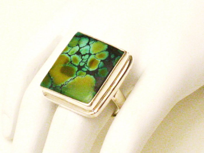 RG171       Turquoise Ring in Sterling Silver, Size 8